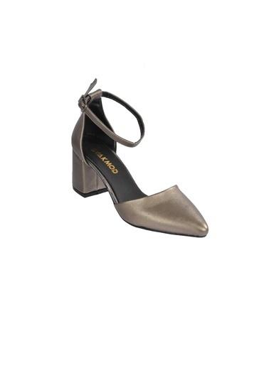 Maje 1903 Ten Kadın Topuklu Ayakkabı Gümüş